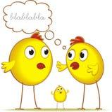 Conversazione dei polli Fotografie Stock