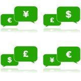 Conversazione dei soldi illustrazione vettoriale