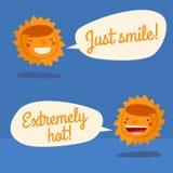 Conversazione del carattere di Sun Fotografia Stock Libera da Diritti