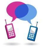 Conversazione del cellulare Fotografia Stock Libera da Diritti