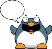 Conversazione del pinguino del fumetto Fotografia Stock