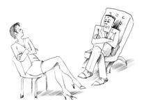 Conversazione dell'uomo e della donna Fotografia Stock Libera da Diritti