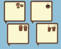 Conversazione della bolla dell'amante del caffè illustrazione di stock