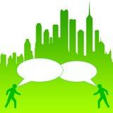 Conversazione della città royalty illustrazione gratis