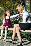 conversazione della famiglia Fotografie Stock