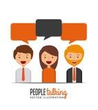 Conversazione della gente illustrazione di stock