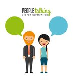 Conversazione della gente illustrazione vettoriale