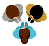 conversazione della gente Vista superiore Vettore royalty illustrazione gratis