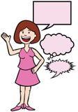 Conversazione della ragazza royalty illustrazione gratis