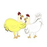 Conversazione della via del pollo Fotografia Stock Libera da Diritti