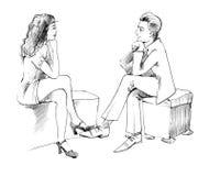 Conversazione delle coppie Immagini Stock