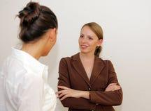 Conversazione di affari Immagine Stock