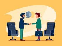 Conversazione di affari alla riunione illustrazione vettoriale