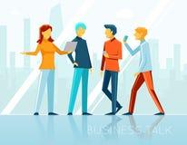Conversazione di affari, 'brainstorming' creativo illustrazione vettoriale