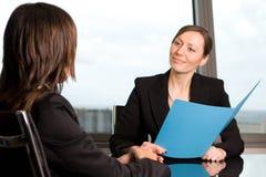 Conversazione di lavoro delle risorse umane Immagini Stock