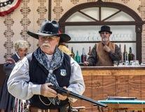 Conversazione di sicurezza della pistola Fotografia Stock Libera da Diritti