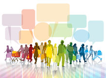 Conversazione e comperare Immagine Stock Libera da Diritti