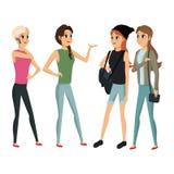Conversazione femminile della gente del gruppo royalty illustrazione gratis