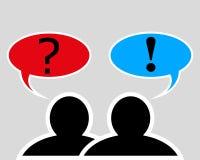 Conversazione fra due genti Fotografia Stock