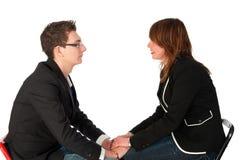 Conversazione l'un l'altro Fotografia Stock
