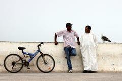 Conversazione musulmana degli uomini fotografie stock