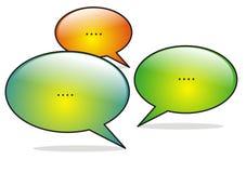 Conversazione sociale di media Fotografia Stock