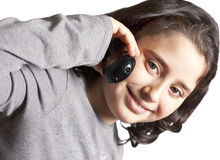 Conversazione teenager sul telefono Fotografia Stock Libera da Diritti