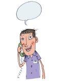 Conversazione telefonica Fotografie Stock