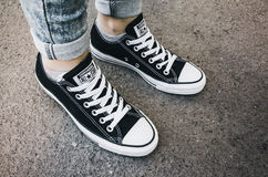 Converse Chuck Taylor All-Stars casual shoes Royalty Free Stock Photos