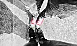 Converse Nike Couple Stock Image