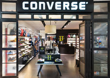 Converse store in Suria KLCC mall, Kuala Lumpur, Malaysia. KUALA LUMPUR - JUNE 15, 2016: The Converse store facade in the Suria KLCC shopping mall. Converse is Stock Image