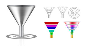 Conversion funnel Royalty Free Stock Photo