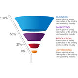 Conversion Funnel Stock Photo