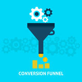 Conversion Funnel Flat Concept Royalty Free Stock Photos