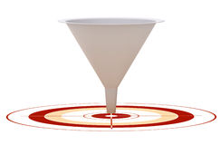 Conversion funnel - optimization Stock Images