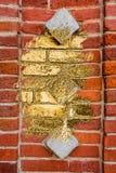 Conversion into gold bricks Royalty Free Stock Image