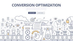 Conversion Optimization Doodle Concept Stock Photo