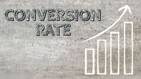 Conversion rate increase royalty free illustration