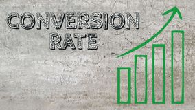 Conversion rate increase vector illustration