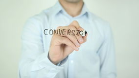 Conversion Rate Increase, Writing On Transparent Screen stock footage
