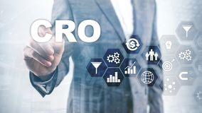Conversion Rate Optimization. CRO Business Technology Finance concept on a virtual screen. Conversion Rate Optimization. CRO Business Technology Finance concept stock photos