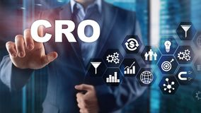 Conversion Rate Optimization. CRO Business Technology Finance concept on a virtual screen. Conversion Rate Optimization. CRO Business Technology Finance concept stock image