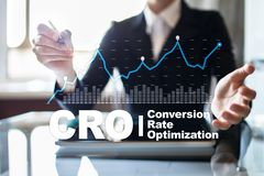 Conversion rate optimization, CRO concept and lead generation. Conversion rate optimization, CRO concept and lead generation royalty free stock photography