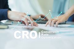 Conversion rate optimization, CRO concept and lead generation. Conversion rate optimization, CRO concept and lead generation royalty free stock photo