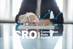 Conversion rate optimization, CRO concept and lead generation. Conversion rate optimization, CRO concept and lead generation royalty free stock photos
