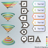 Conversion or sales funnel 3d, vector graphics Royalty Free Stock Images