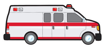 Conversion Van Ambulance Stockbild