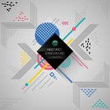 Convert abstract background of geometric pattern in various color. Illustration vector eps10 Royalty Free Stock Photos