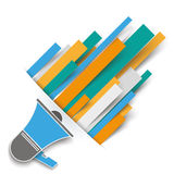 Convert Colored Stripes Bullhorn Royalty Free Stock Photo