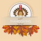 Convert Emblem Turkey Foliage Banner Stock Photos